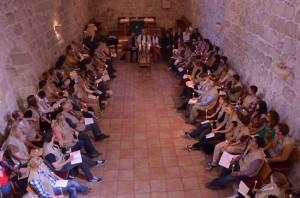 EAPPI-tarkkailijat Jerusalemin Pyhän Lunastajan kirkossa marraskuussa 2013