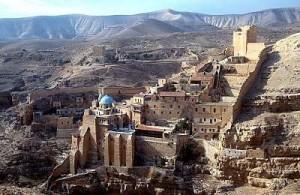 Mar Saban ortodoksiluostari Betlehemissä, erämaassa