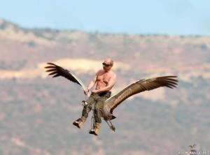Lentävä Putin