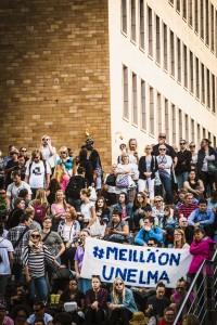 Meillä on unelma -mielenosoitus avoimen ja monikulttuurisen Suomen puolesta Kansalaistorilla, Helsingissä 28.7.2015 OTAVAMEDIA / LEHTIKUVA Niclas Mäkelä