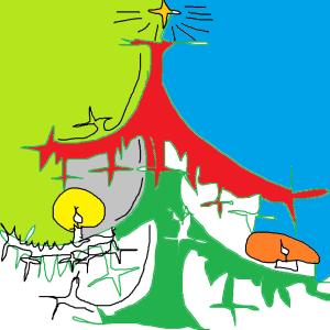 värikäs kuusi